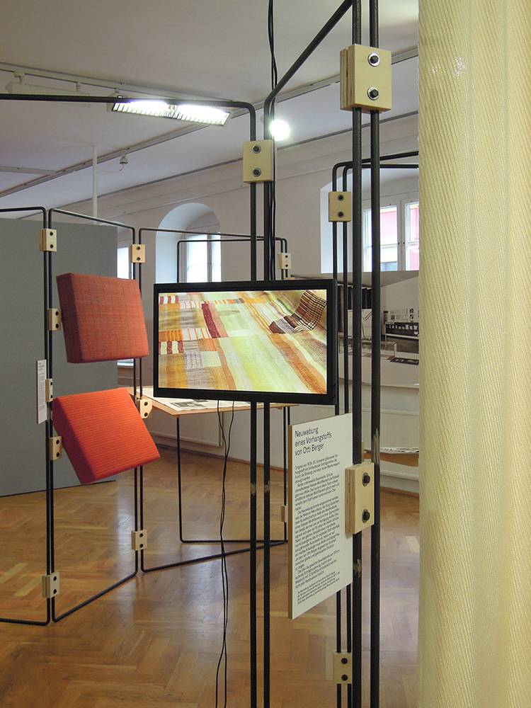 Installation Bauhaus Raum, ifa touring exhibition The Event of a Thread, Dresden (2017)