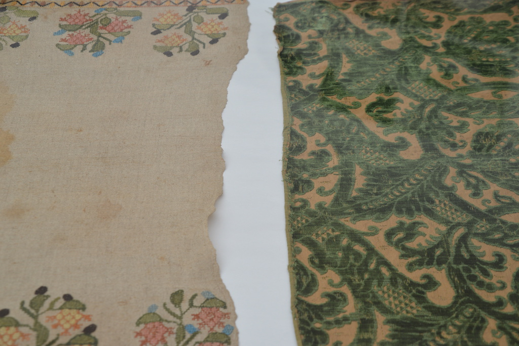 Old textiles collected by Seth Siegelaub for the Center for Social Research on Old Textiles